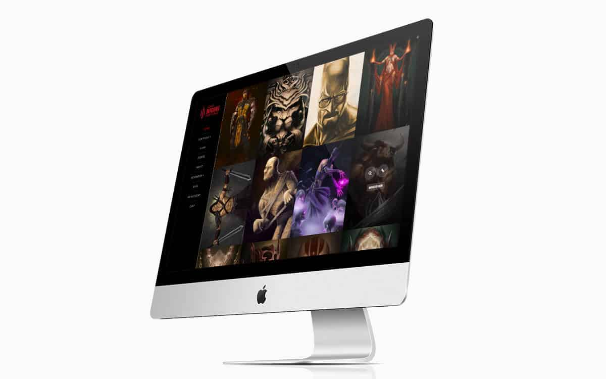 Adam Miconi Website iMac