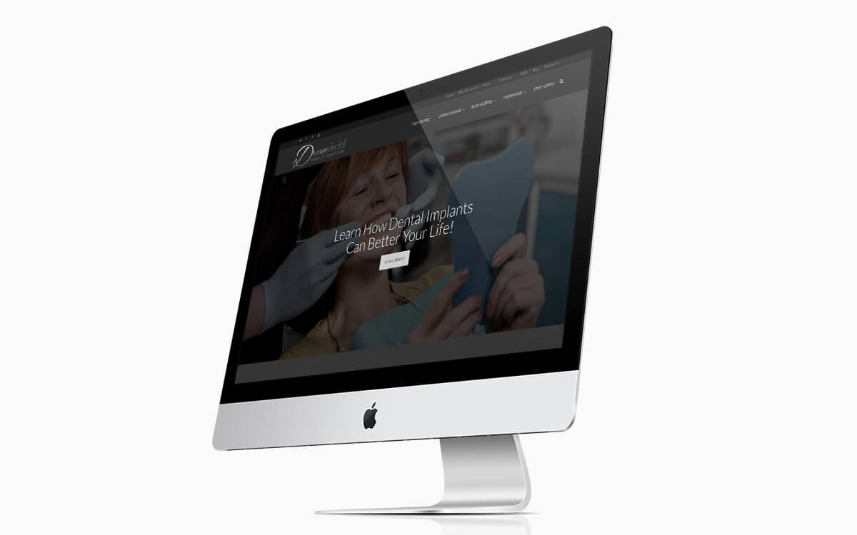 Dream Dental Website iMac