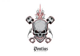 Pontius Rods and Customs Logo