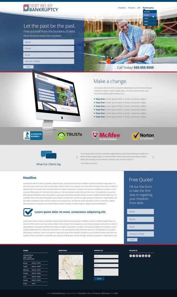 Debt Relief Management Website