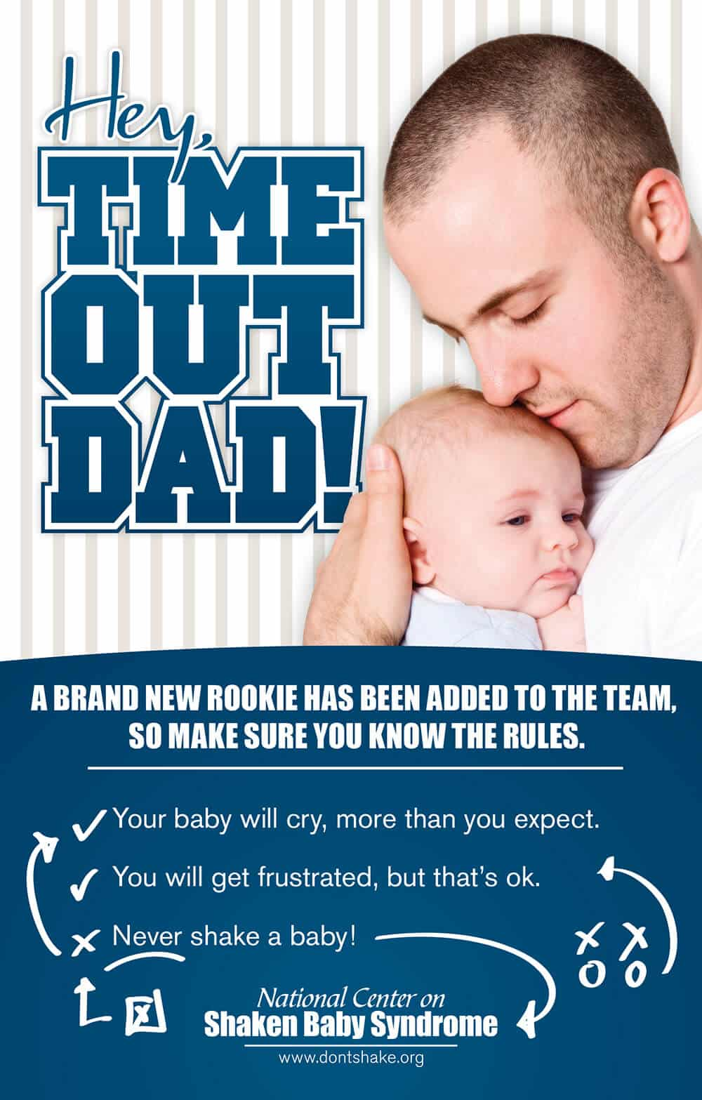 Time Out Dads Rack Card