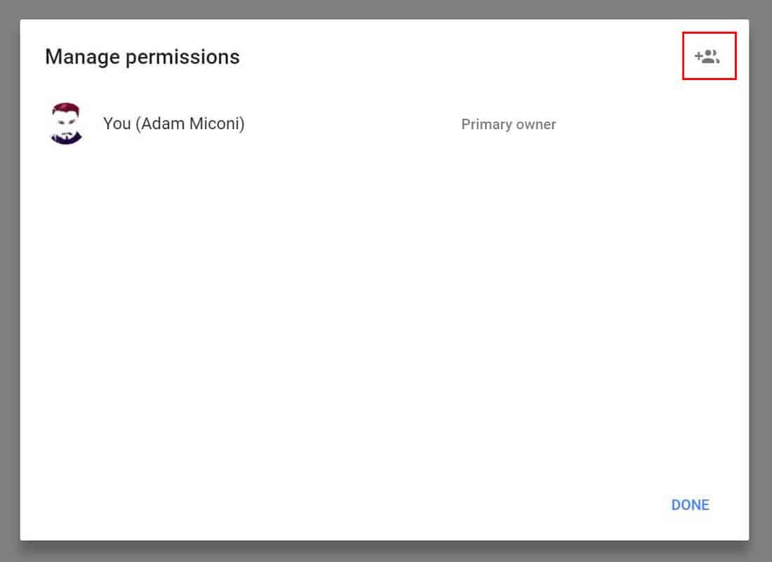 Google My Business Add New User